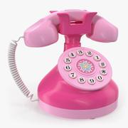 Zabawkowy telefon różowy model 3D 3d model
