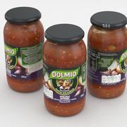 Dolmio Jar 500g Bolognese Sauce Intense 3d model