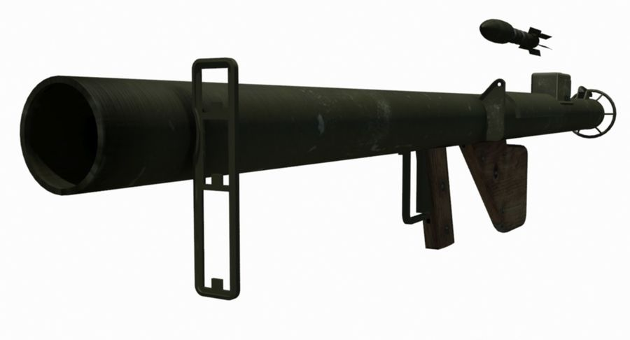 M1 Bazooka royalty-free 3d model - Preview no. 1