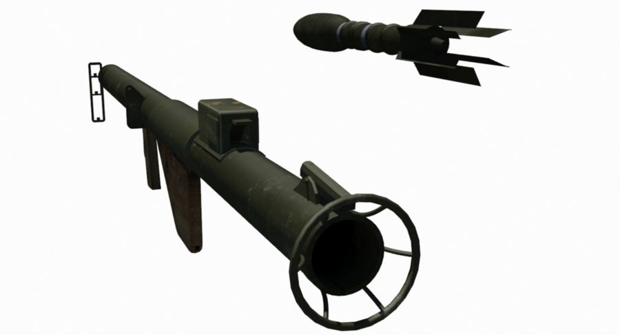 M1 Bazooka royalty-free 3d model - Preview no. 5