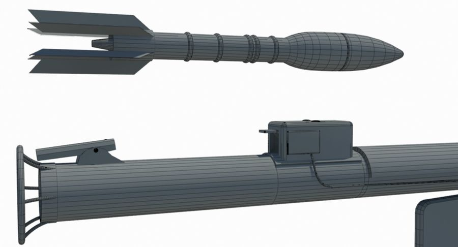 M1 Bazooka royalty-free 3d model - Preview no. 8