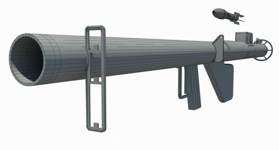 M1 Bazooka royalty-free 3d model - Preview no. 2