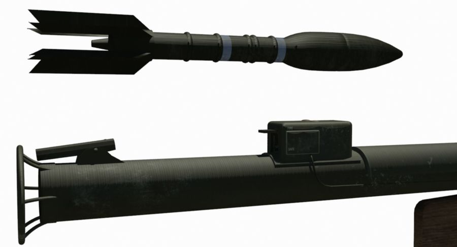 M1 Bazooka royalty-free 3d model - Preview no. 7