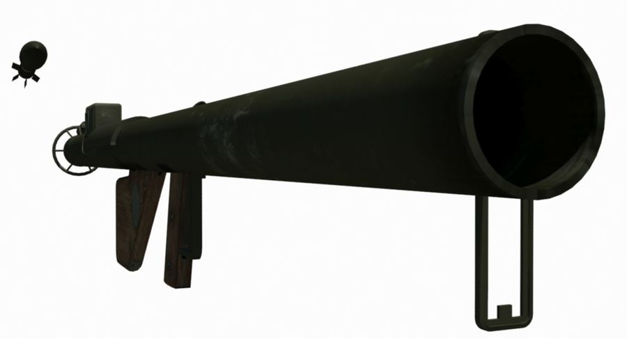 M1 Bazooka royalty-free 3d model - Preview no. 3
