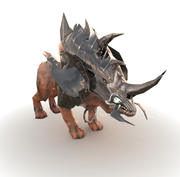 Armored Beast (Low Poly) 3d model