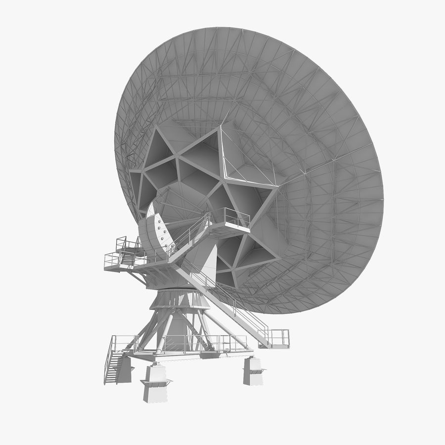 Schotelantenne royalty-free 3d model - Preview no. 13