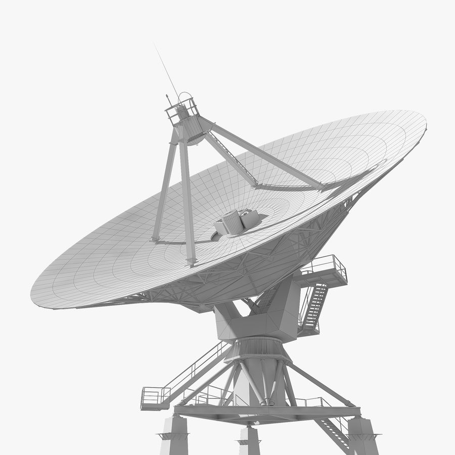 Antena parabólica royalty-free modelo 3d - Preview no. 14