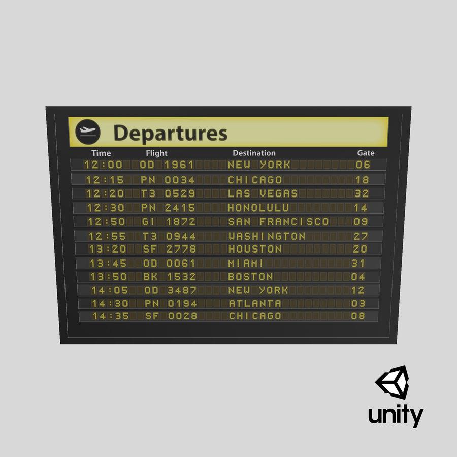 Vluchtinformatiebord royalty-free 3d model - Preview no. 18