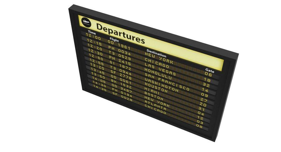 Vluchtinformatiebord royalty-free 3d model - Preview no. 4