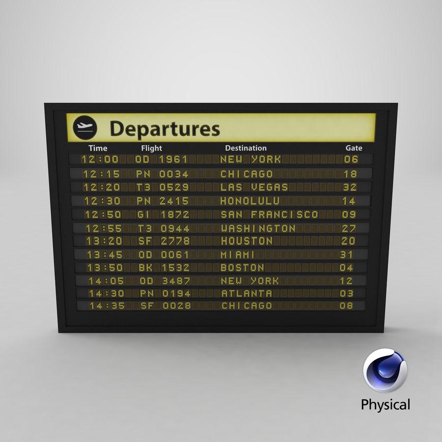 Vluchtinformatiebord royalty-free 3d model - Preview no. 16