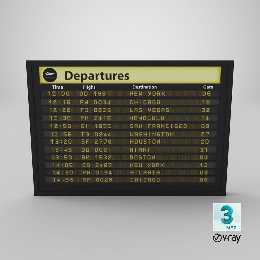 Vluchtinformatiebord royalty-free 3d model - Preview no. 14