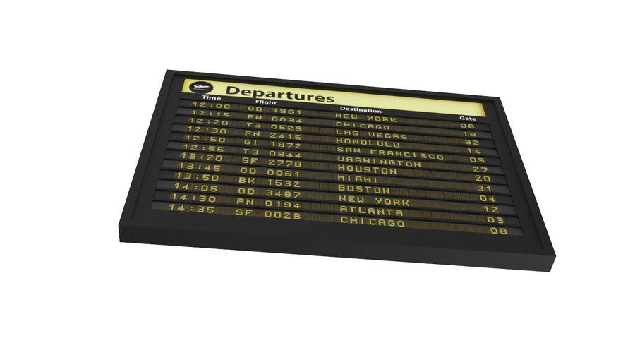 Vluchtinformatiebord royalty-free 3d model - Preview no. 7