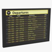 Panel de información de vuelos modelo 3d