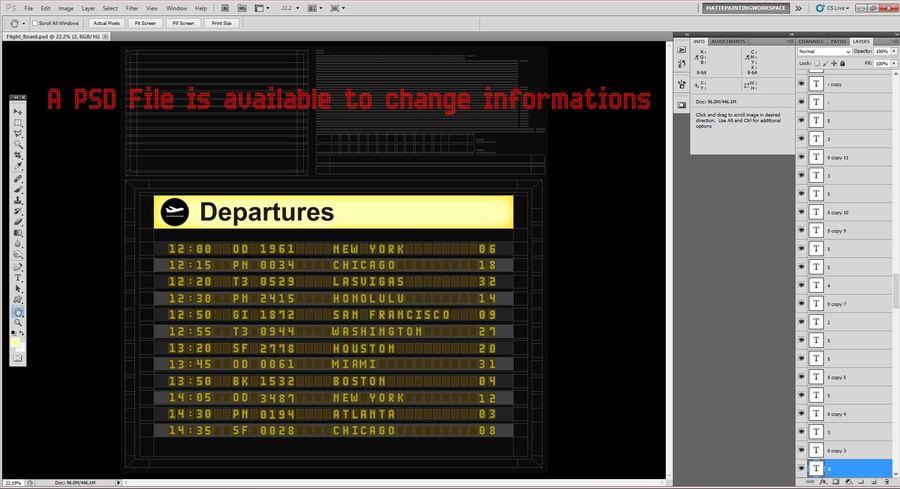 Vluchtinformatiebord royalty-free 3d model - Preview no. 11