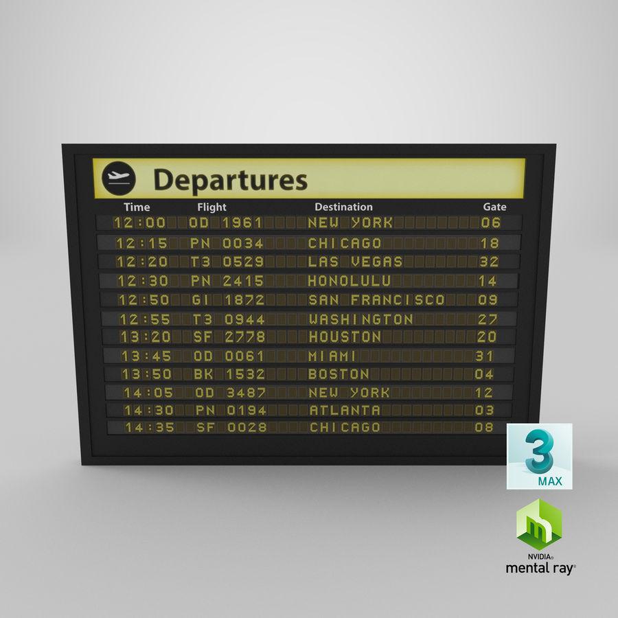 Vluchtinformatiebord royalty-free 3d model - Preview no. 15