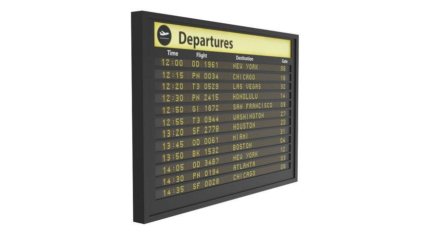 Vluchtinformatiebord royalty-free 3d model - Preview no. 3