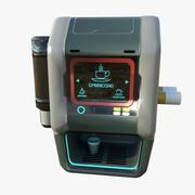 Macchina da caffè fantascientifica 3d model
