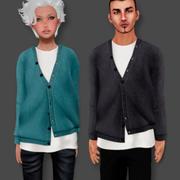 Pullover Set männlich und weiblich 3d model
