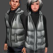 Winterweste Set männlich und weiblich 3d model