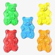 Gummi Bears Set 3d model