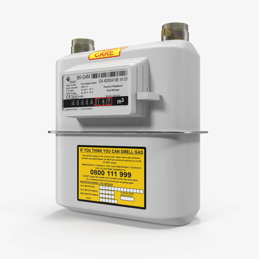 Gas Flow Meter royalty-free 3d model - Preview no. 1