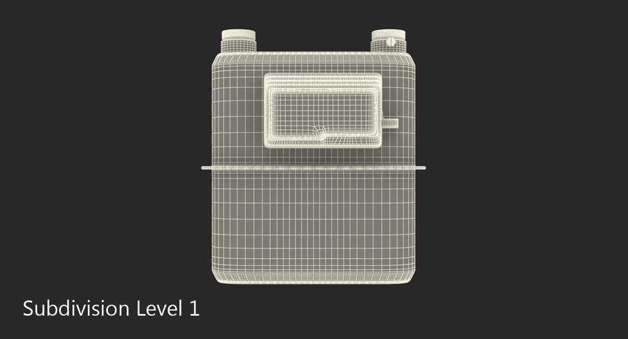 Gas Flow Meter royalty-free 3d model - Preview no. 7