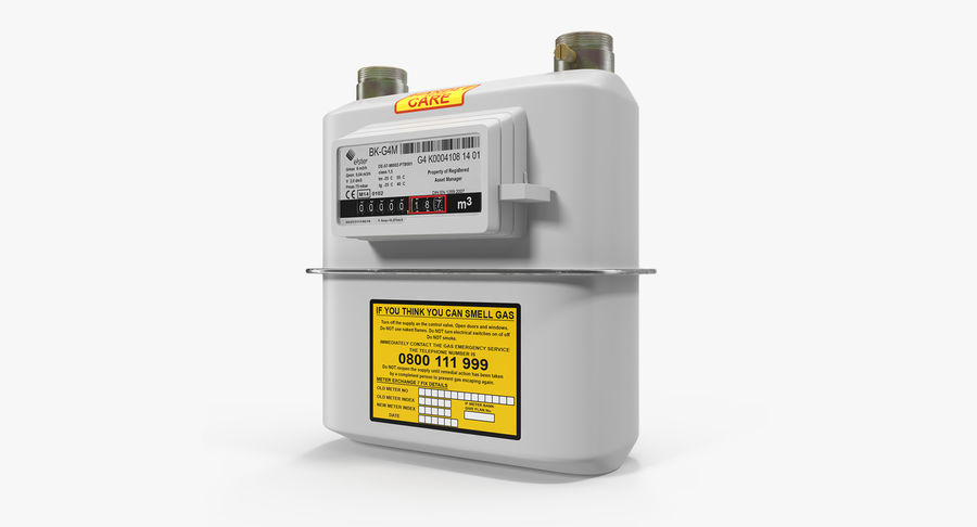 Gas Flow Meter royalty-free 3d model - Preview no. 2