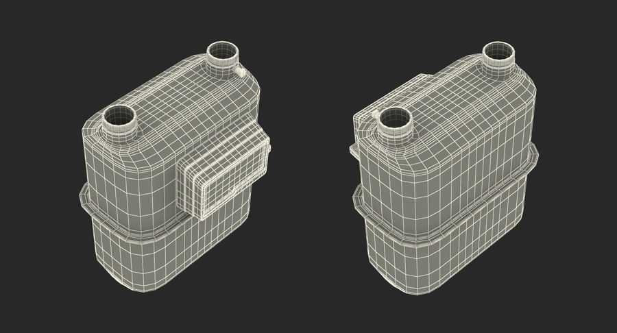 Gas Flow Meter royalty-free 3d model - Preview no. 13