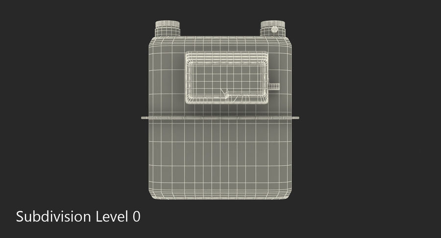Gas Flow Meter royalty-free 3d model - Preview no. 6