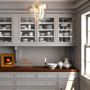 Armoire de cuisine en porcelaine 3d model