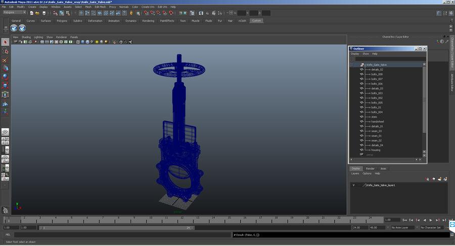 Knife Gate Valve 3d Model 3d Model 29 Max Obj Ma Fbx C4d 3ds Free3d