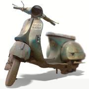古い自転車スキャン 3d model