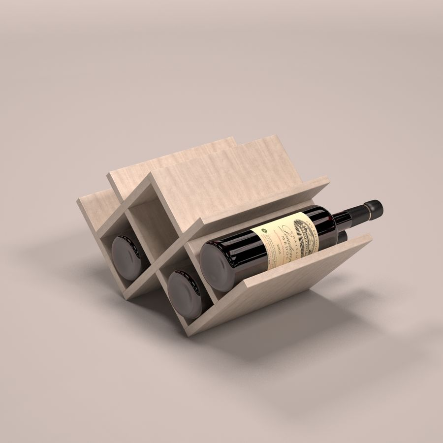 Scaffale per vino royalty-free 3d model - Preview no. 6