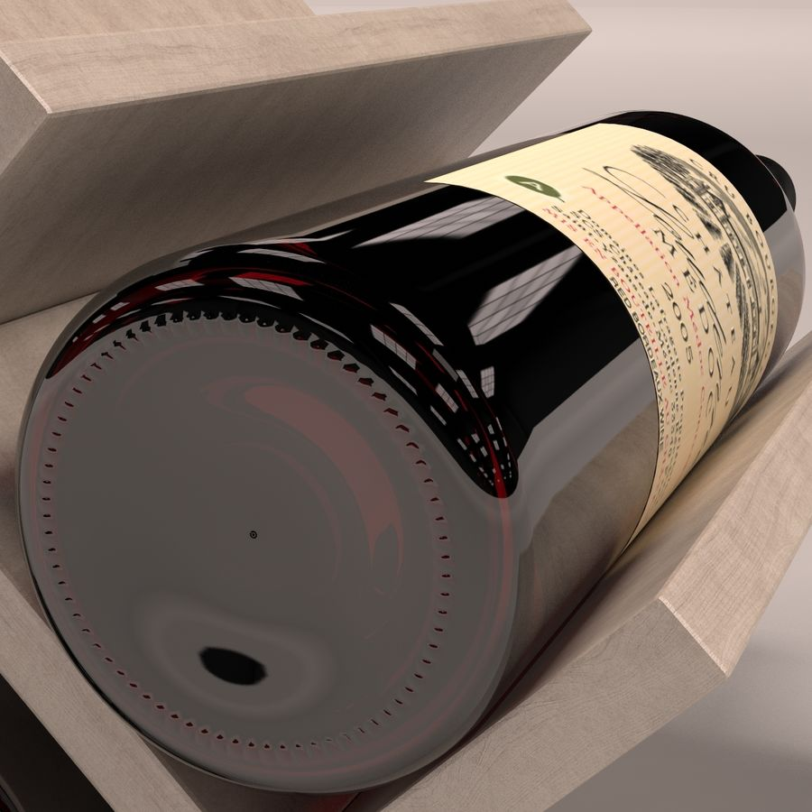 Scaffale per vino royalty-free 3d model - Preview no. 5