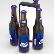 Beer Bottle Bud Light 330ml 3d model