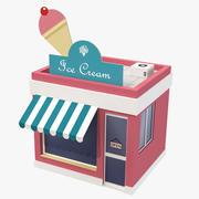 Modelo 3D de loja de desenhos animados de sorvete 3d model