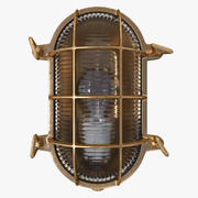 Винтажная переборка Светло-коричневый 3d model