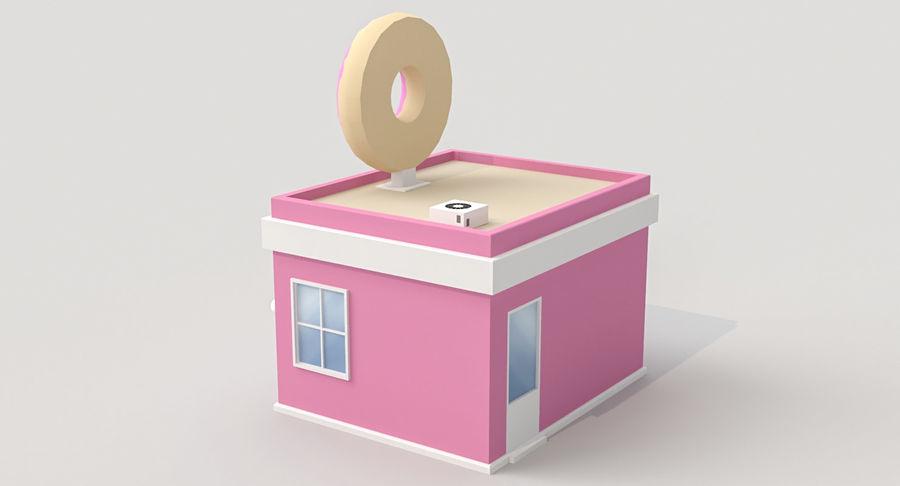 Donuts Shop 3D Model royalty-free 3d model - Preview no. 7