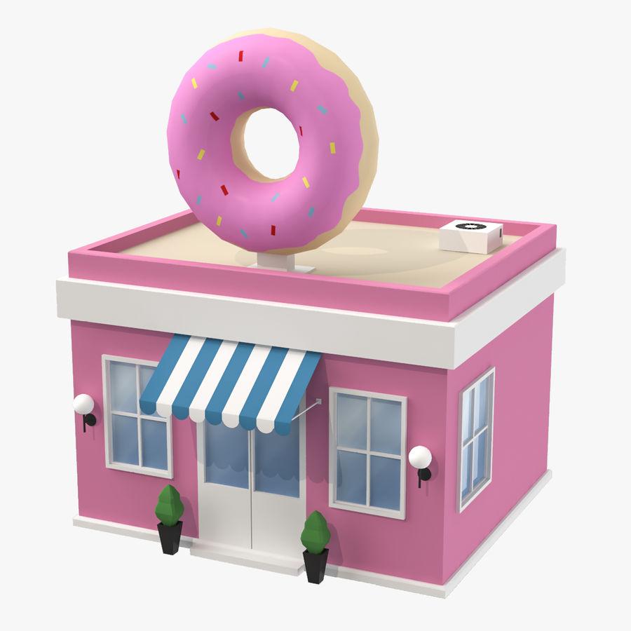 Donuts Shop 3D Model royalty-free 3d model - Preview no. 1
