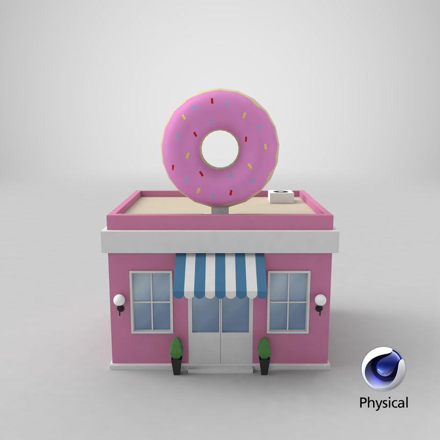 Donuts Shop 3D Model royalty-free 3d model - Preview no. 19