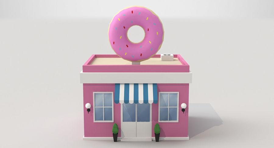 Donuts Shop 3D Model royalty-free 3d model - Preview no. 4