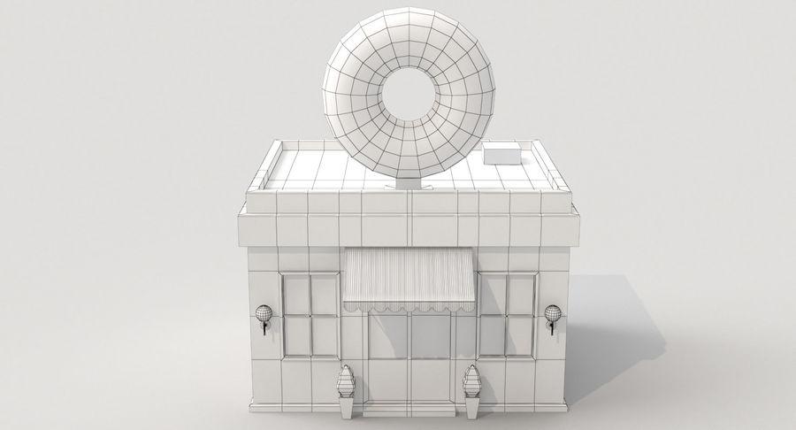 Donuts Shop 3D Model royalty-free 3d model - Preview no. 8