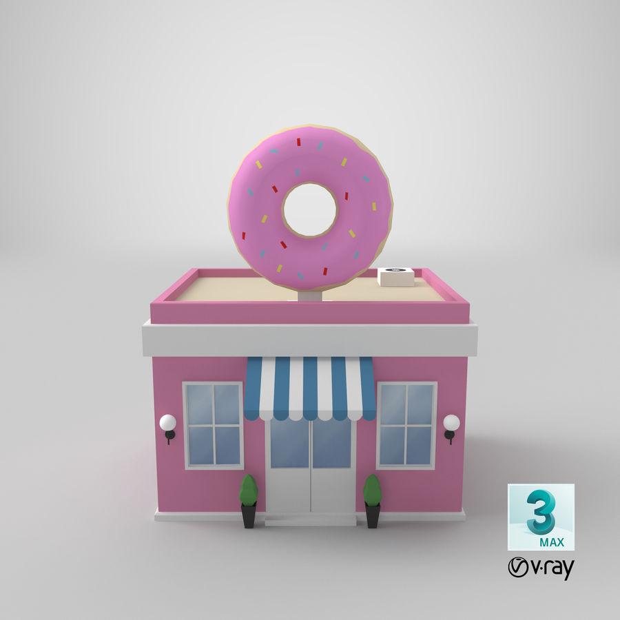 Donuts Shop 3D Model royalty-free 3d model - Preview no. 17