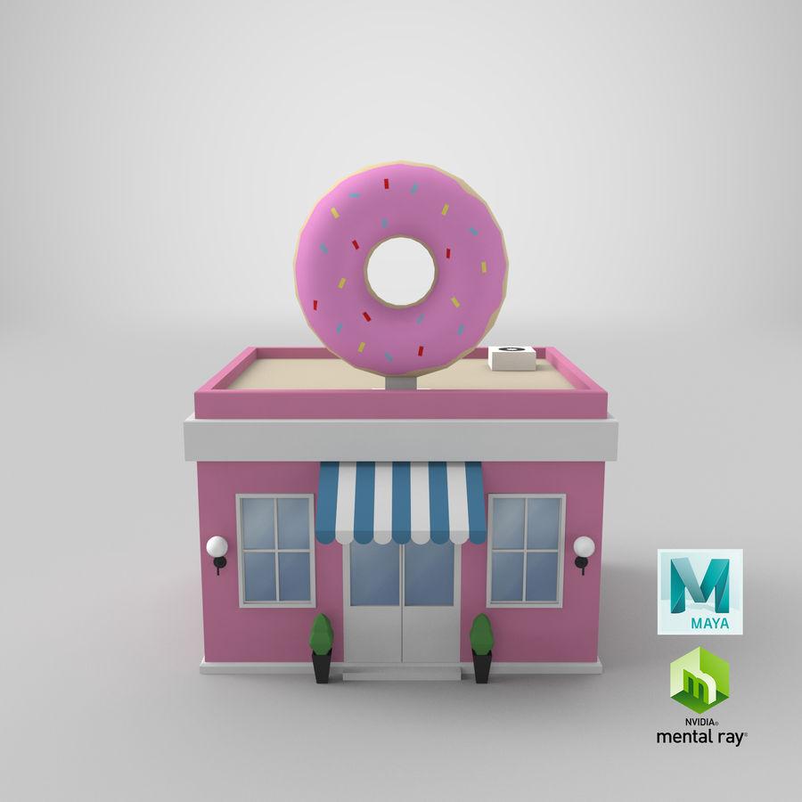 Donuts Shop 3D Model royalty-free 3d model - Preview no. 16