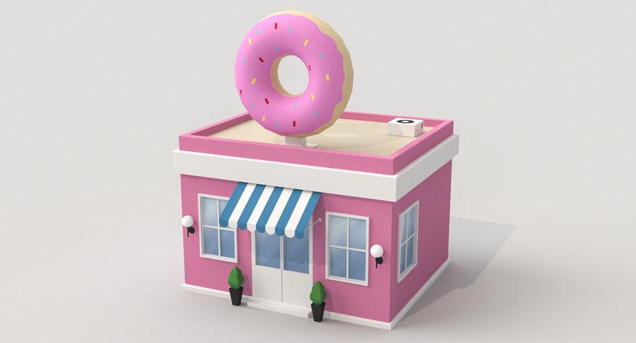Donuts Shop 3D Model royalty-free 3d model - Preview no. 2