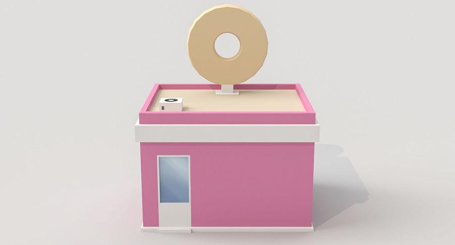 Donuts Shop 3D Model royalty-free 3d model - Preview no. 6