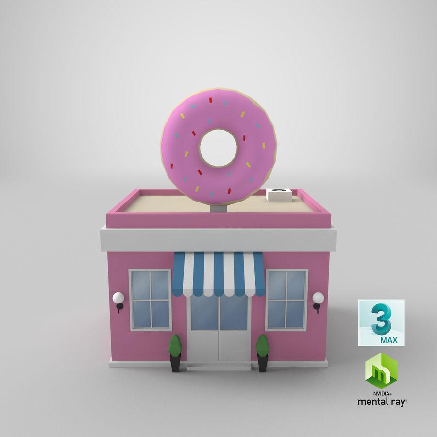 Donuts Shop 3D Model royalty-free 3d model - Preview no. 18