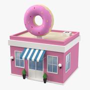 Modelo 3D da loja de rosquinhas 3d model