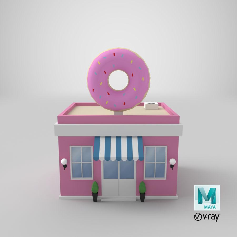 Donuts Shop 3D Model royalty-free 3d model - Preview no. 15