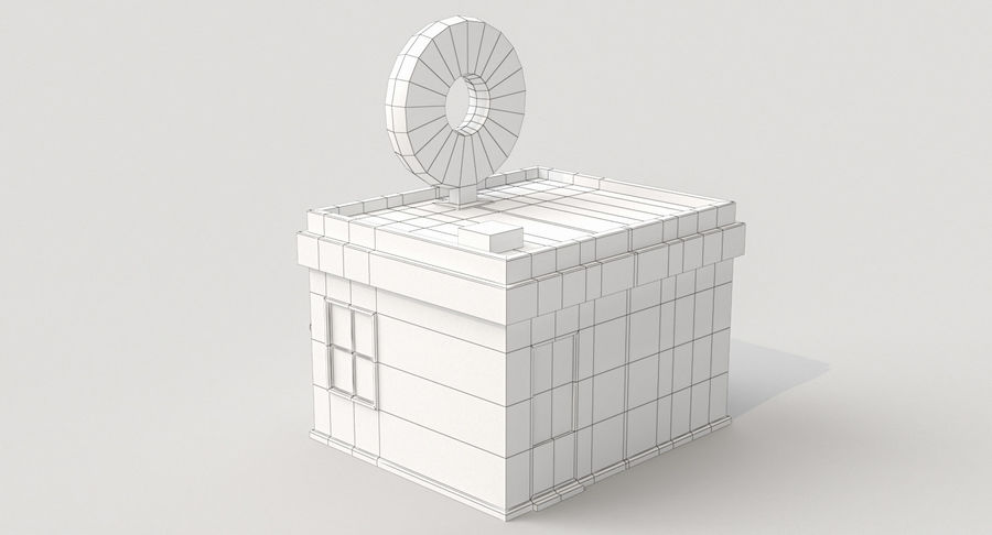 Donuts Shop 3D Model royalty-free 3d model - Preview no. 10